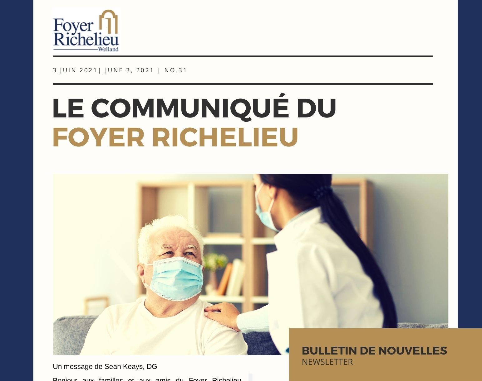 2021/06/03 – Le communiqué du Foyer Richelieu