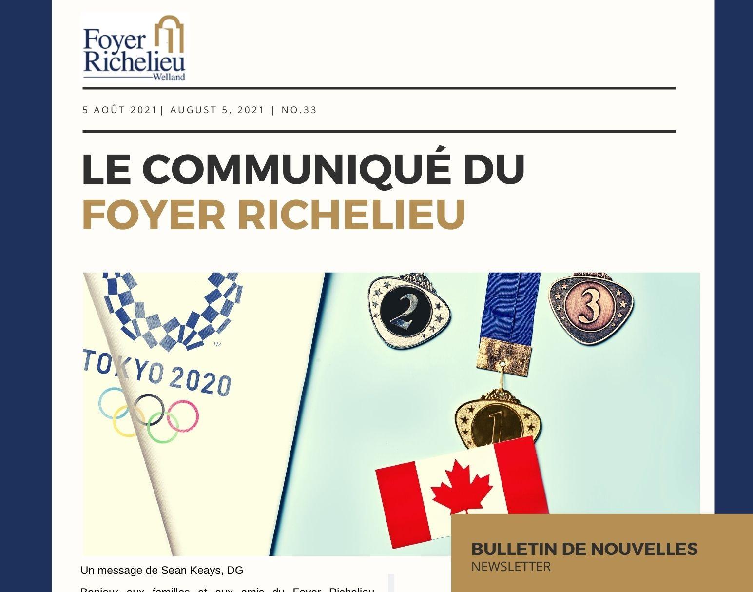 2021/08/05 – Le communiqué du Foyer Richelieu