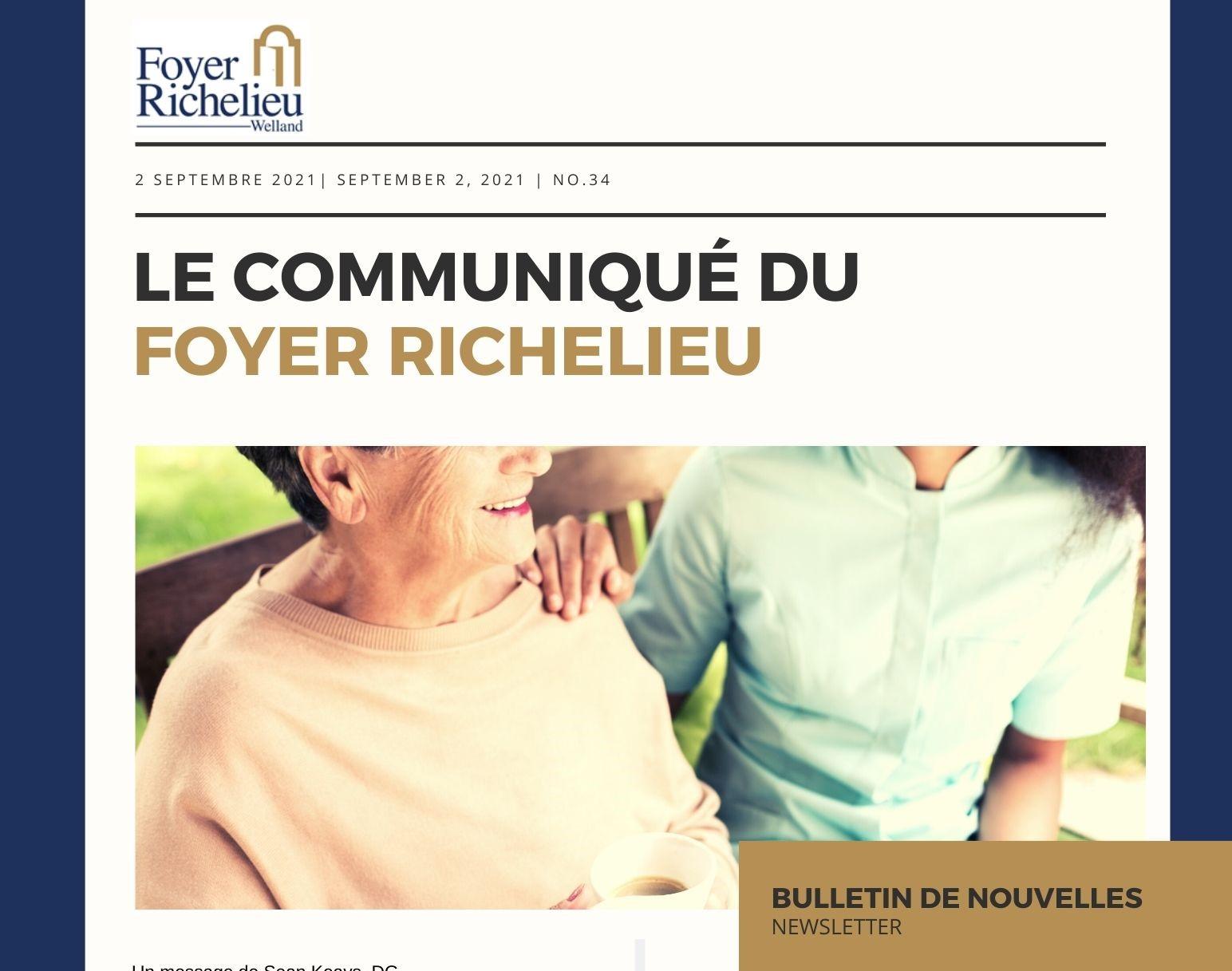 2021/09/02 – Le communiqué du Foyer Richelieu