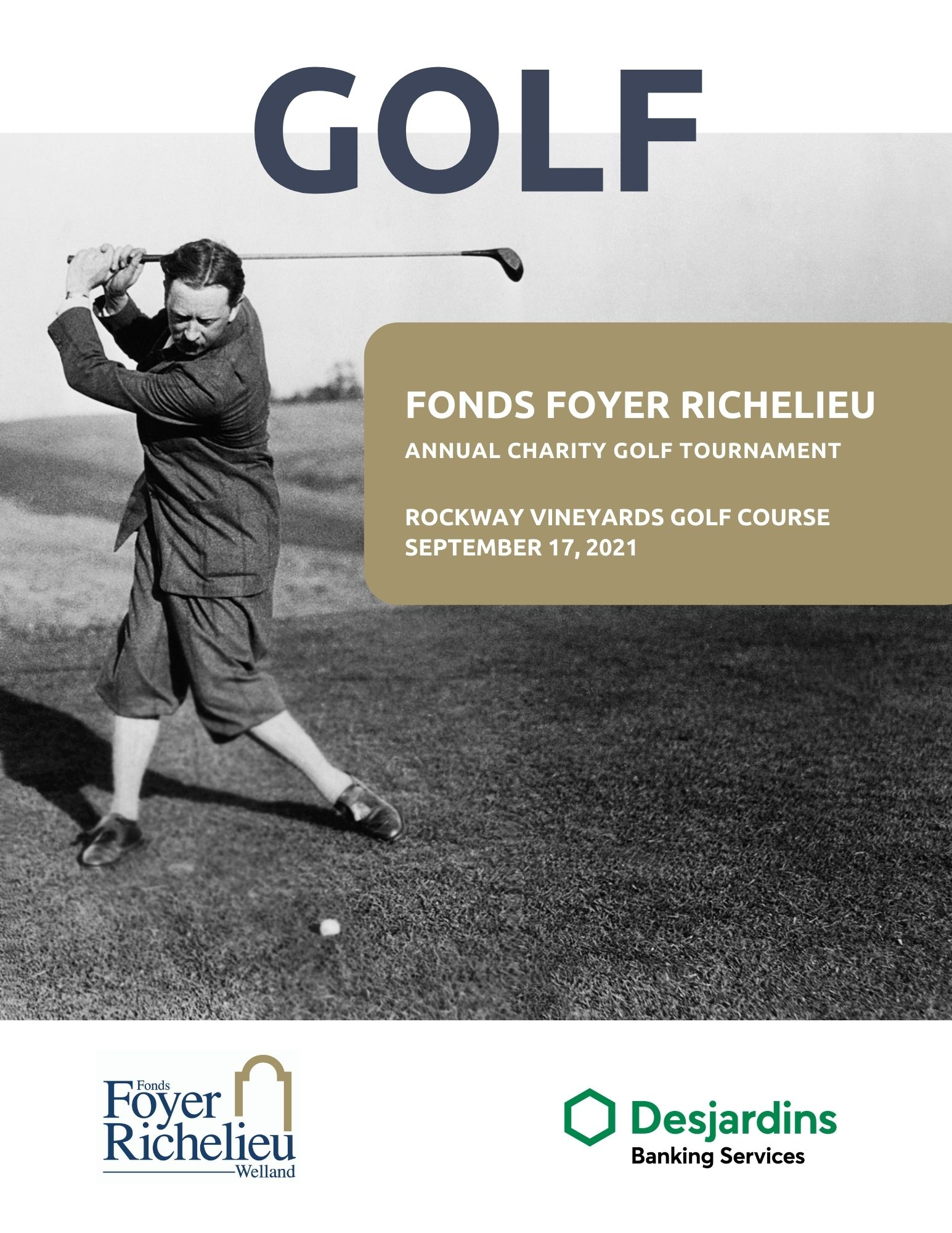 Fonds Foyer Richelieu is currently organizing its annual golf tournament